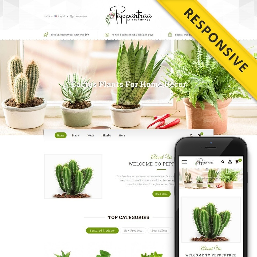 theme - Casa & Jardins - Peppertree - Garden Plants Store - 1