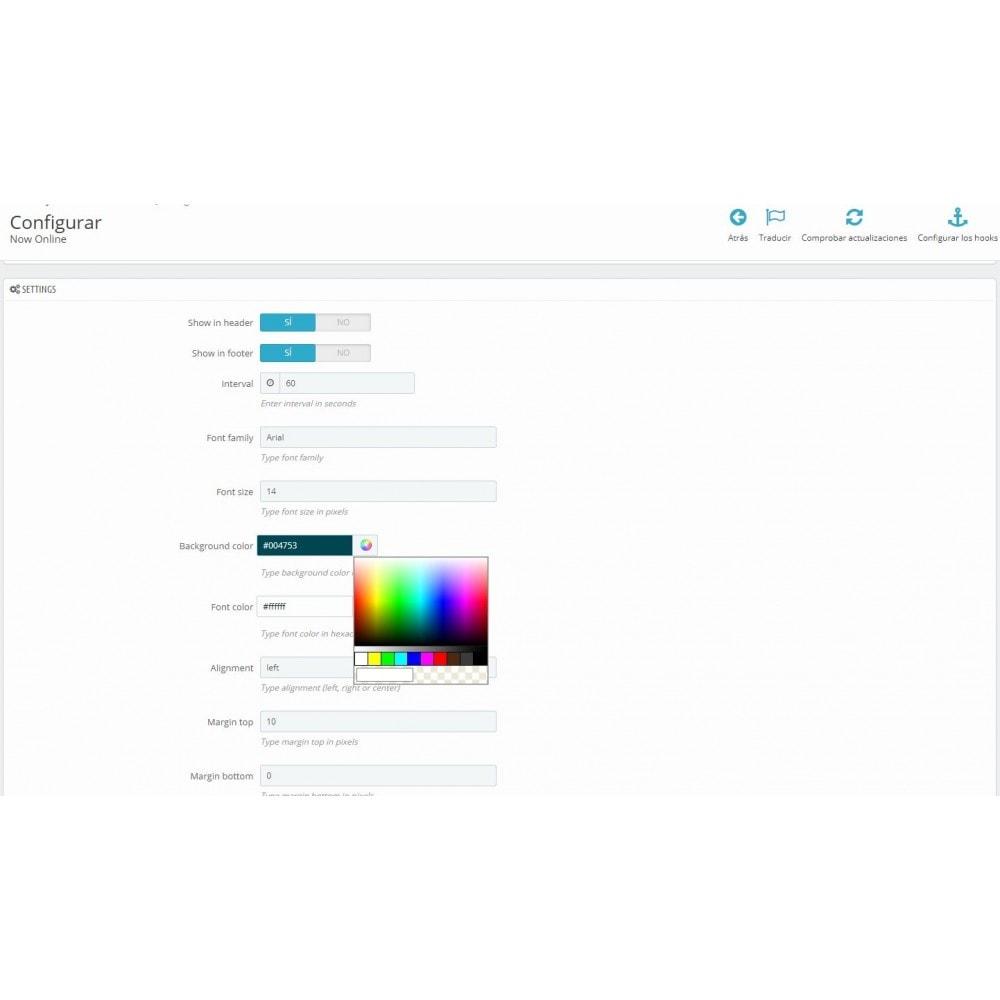 module - Informes y Estadísticas - Usuarios online - 1
