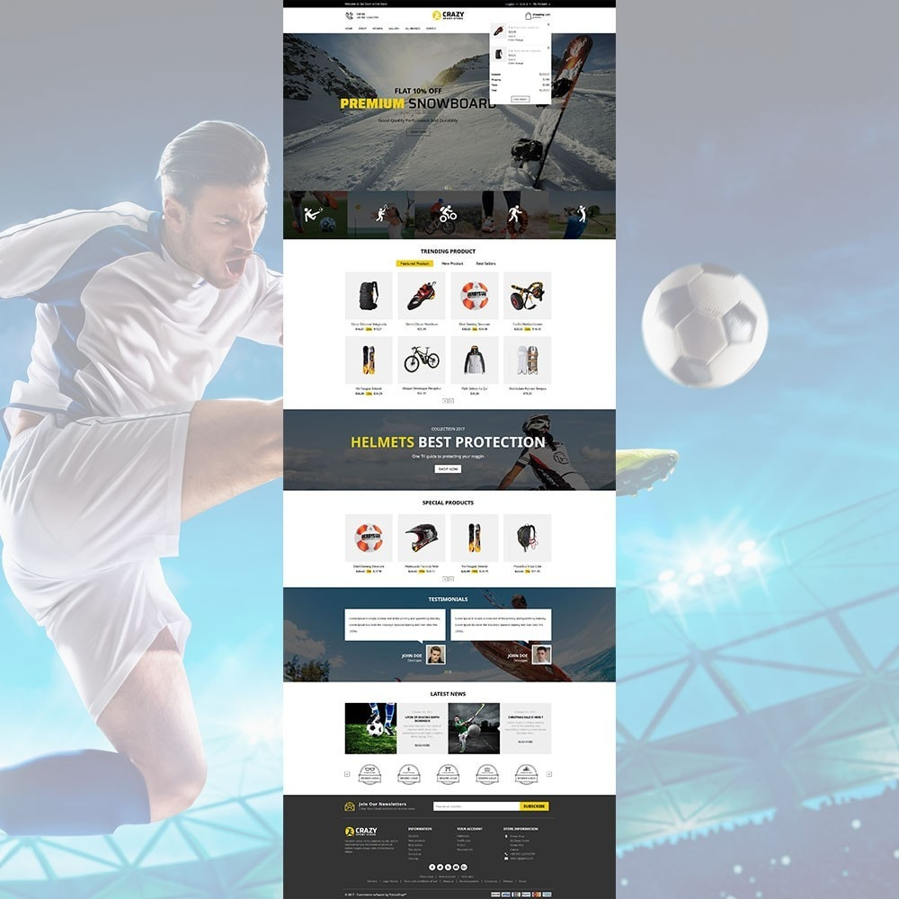 theme - Sport, Loisirs & Voyage - Crazy Sports Store - 3