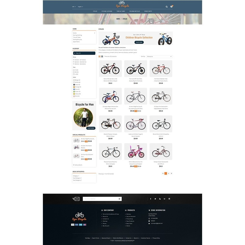 theme - Auto's & Motoren - Spo Bicycle Store - 3