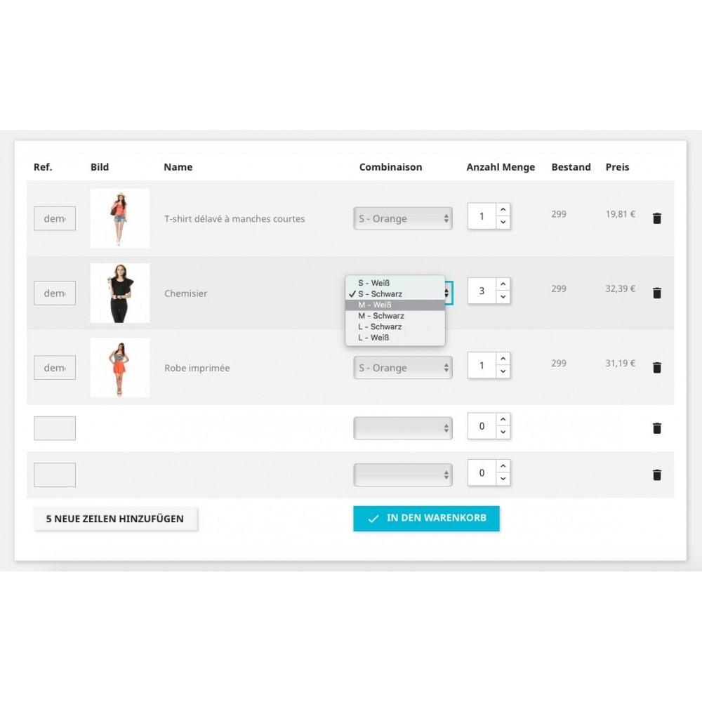 module - Express Checkout Prozesse - Schnell-Bestellformular - 1