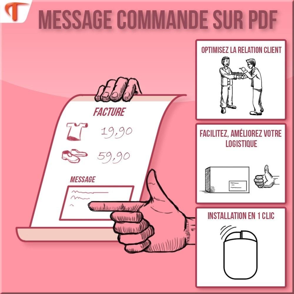 module - Comptabilité & Facturation - Order Message in PDF - Facture et/ou Bordereau - 1