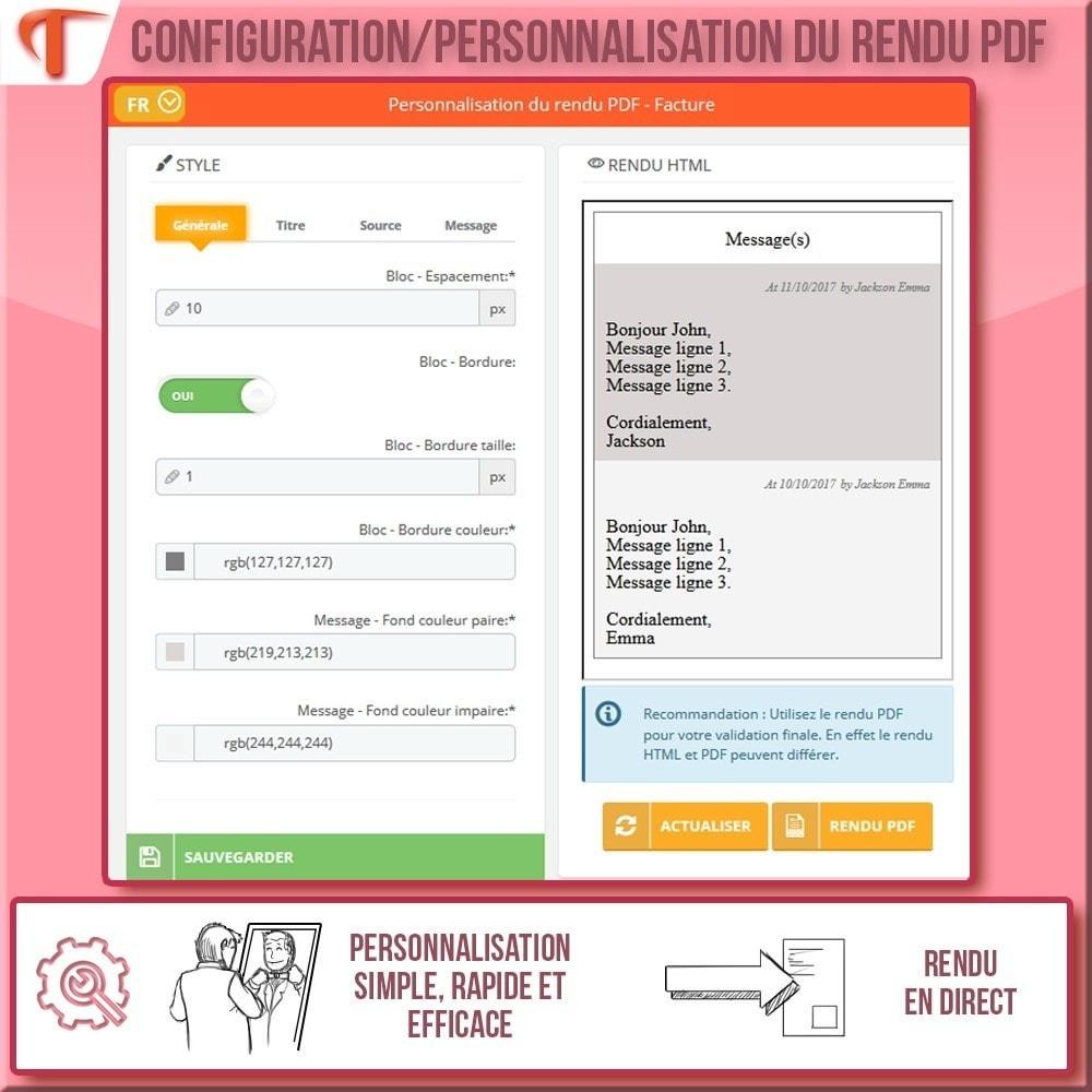 module - Comptabilité & Facturation - Afficher des messages sur vos Factures et/ou Bordereaux - 4