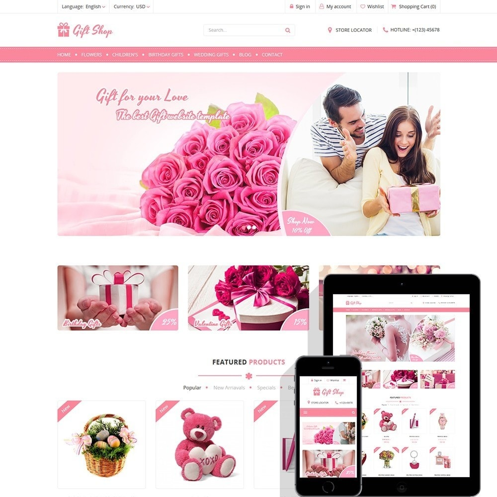 theme - Presentes, Flores & Comemorações - Gift Shop - For gift, flower, toy & accessories stores - 1