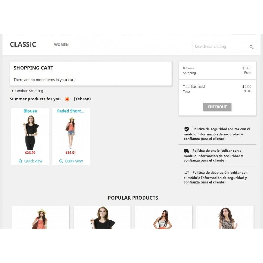 module - Personalización de la página - Products by weather - 3