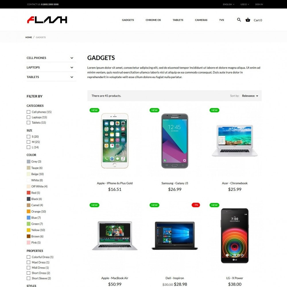 theme - Electronics & Computers - Flash - High-tech Shop - 7