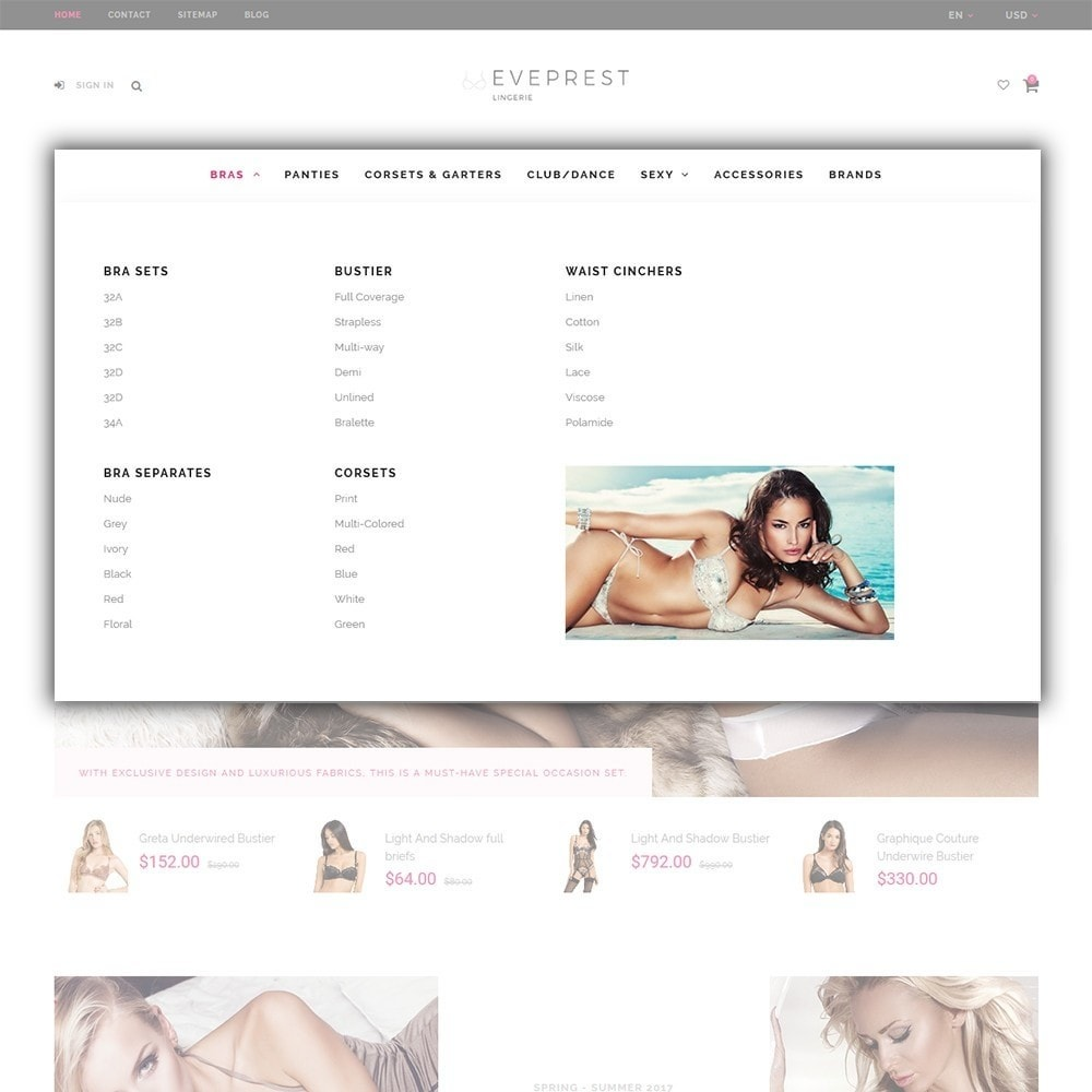 theme - Lingerie & Adult - EvePrest Lingerie - Lingerie Online Store - 3