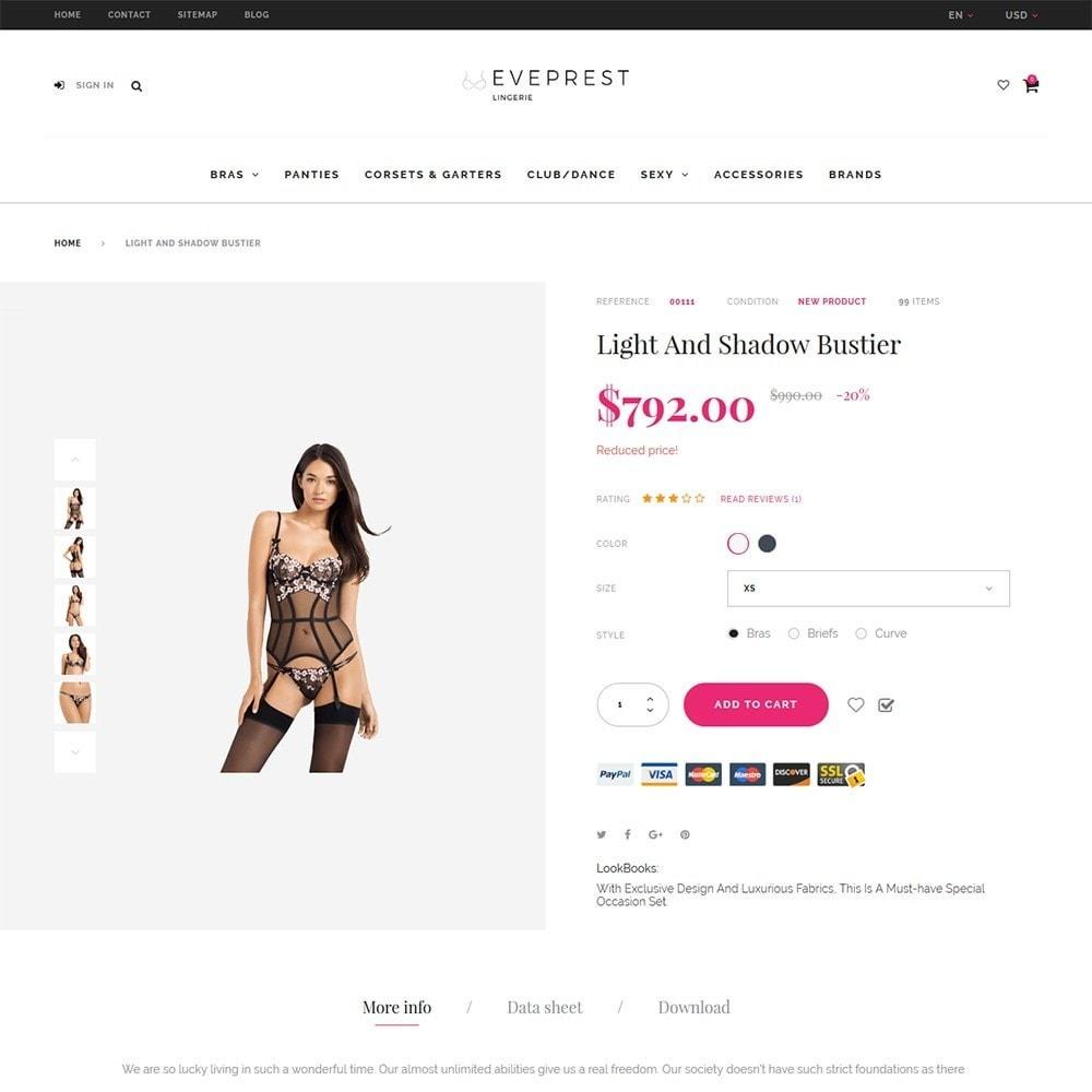 theme - Lingerie & Erwachsene - EvePrest - Lingerie Store - 4