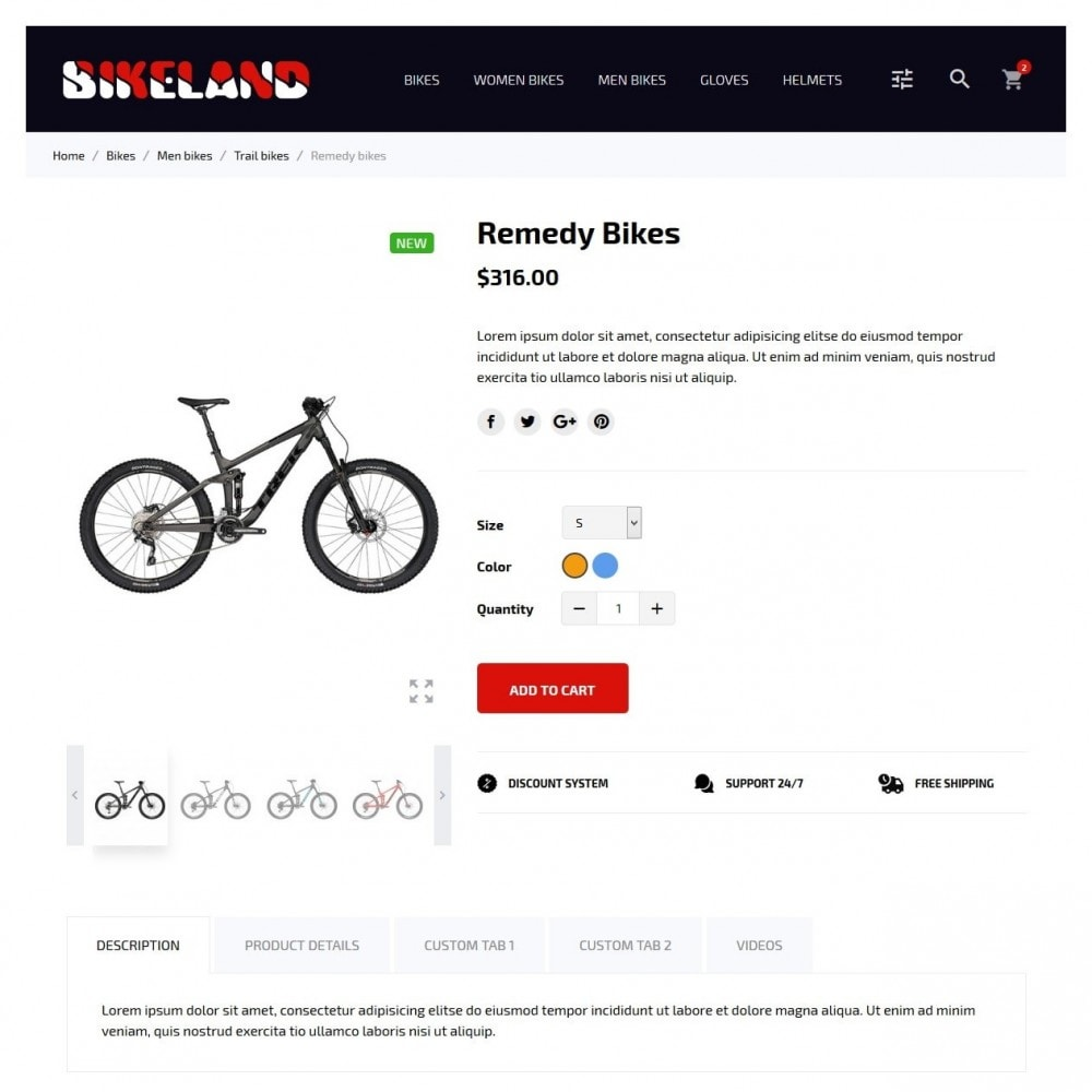 theme - Sports, Activities & Travel - Bikeland - 6