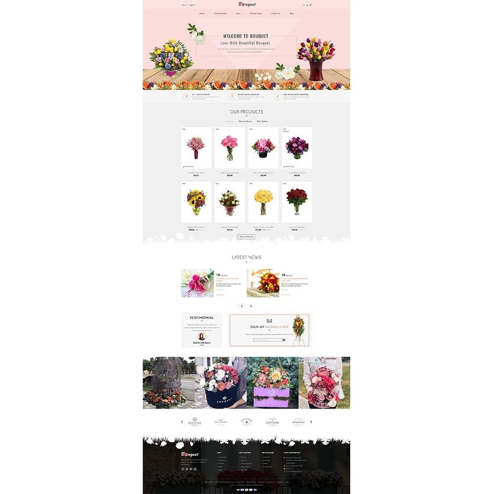 theme - Heim & Garten - Bouquet Flower Shop - 2