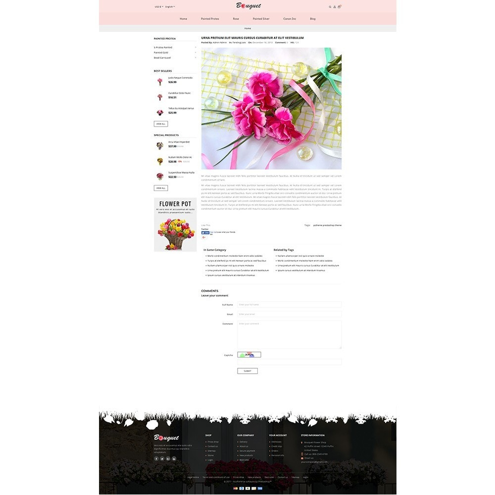 theme - Home & Garden - Bouquet Flower Shop - 8