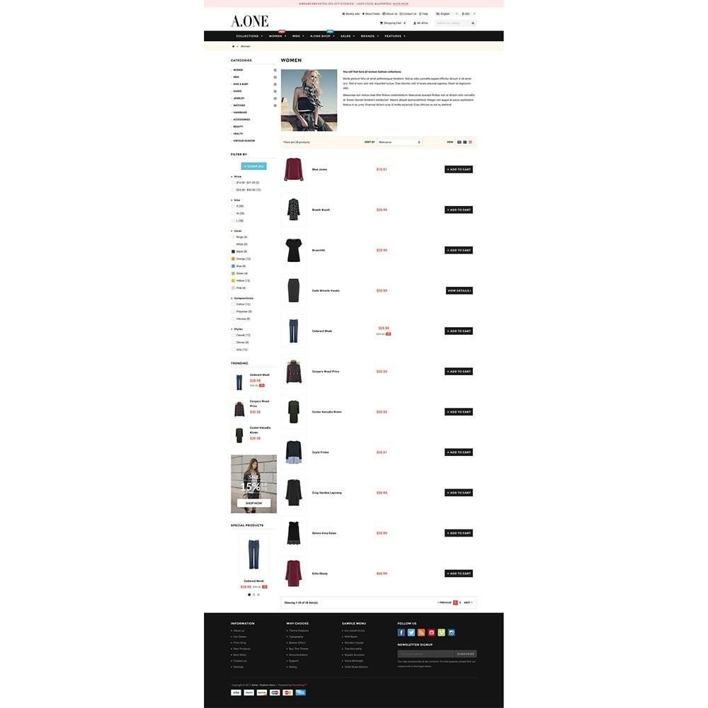 theme - Moda & Calzature - AOne - Fashion Store - 5
