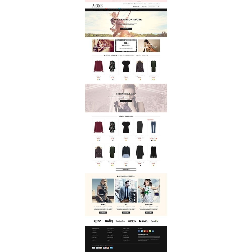 theme - Moda & Calzature - AOne - Fashion Store - 2