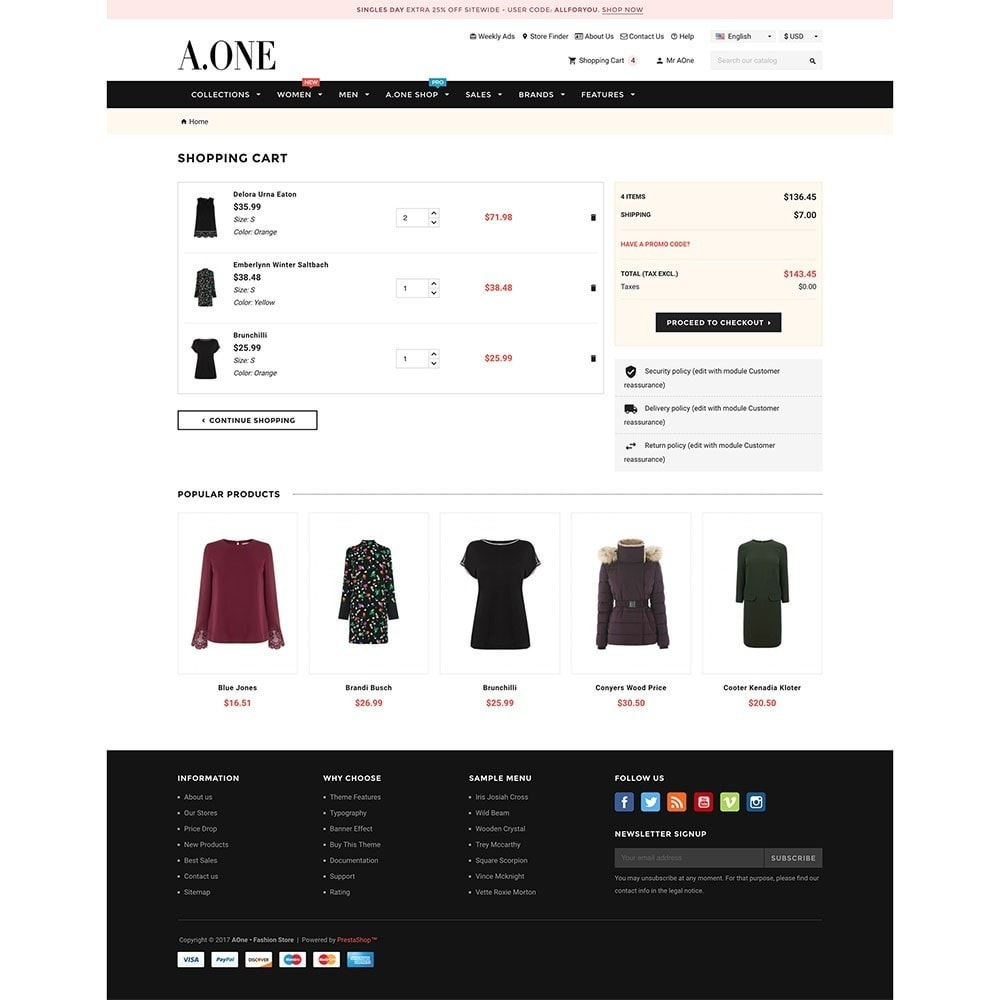 theme - Moda & Calzature - AOne - Fashion Store - 7