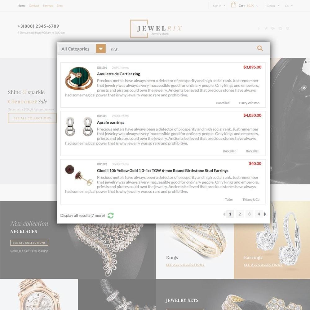 theme - Moda y Calzado - Jewelrix - para Sitio de Joyería - 6