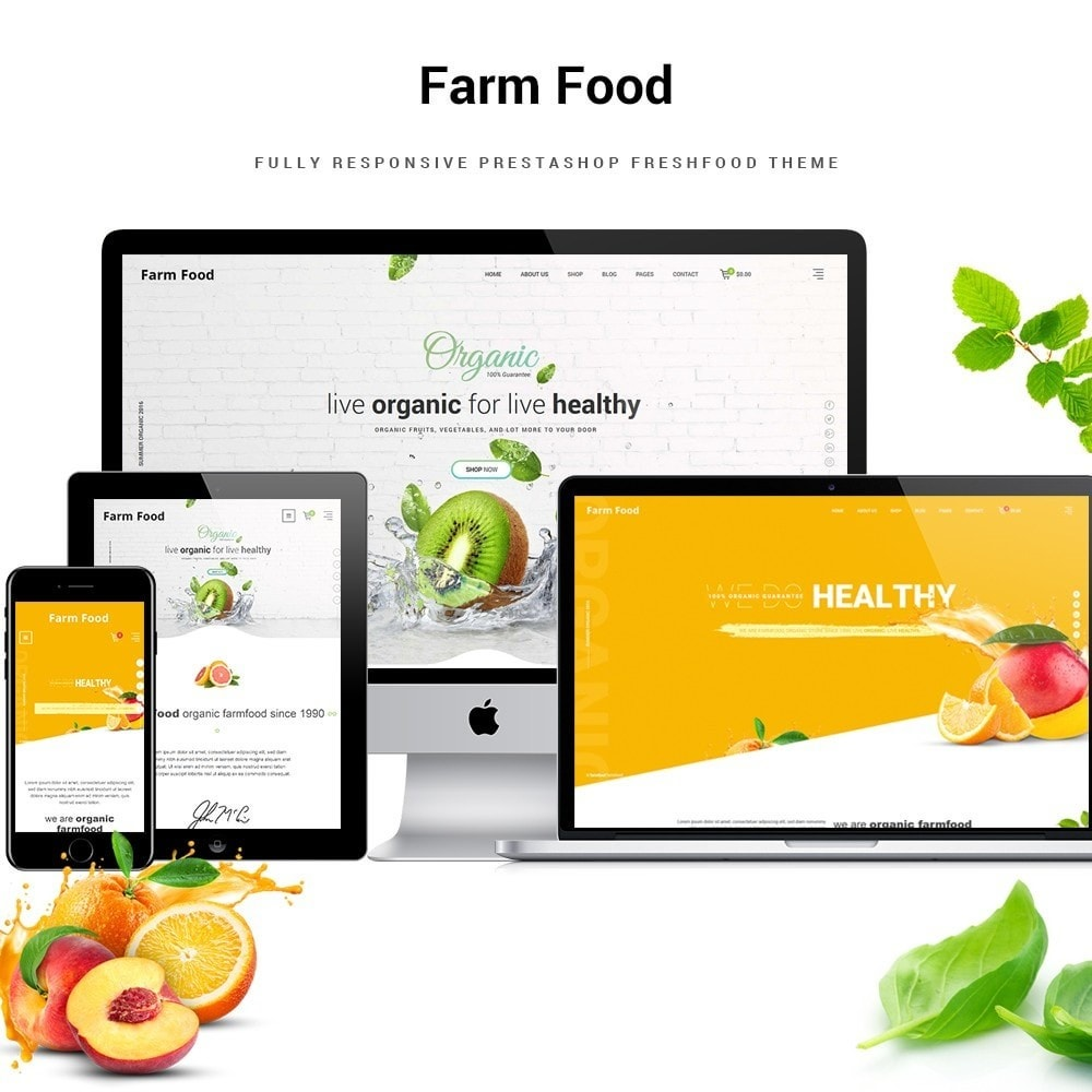 theme - Food & Restaurant - JMS FarmFood - 1
