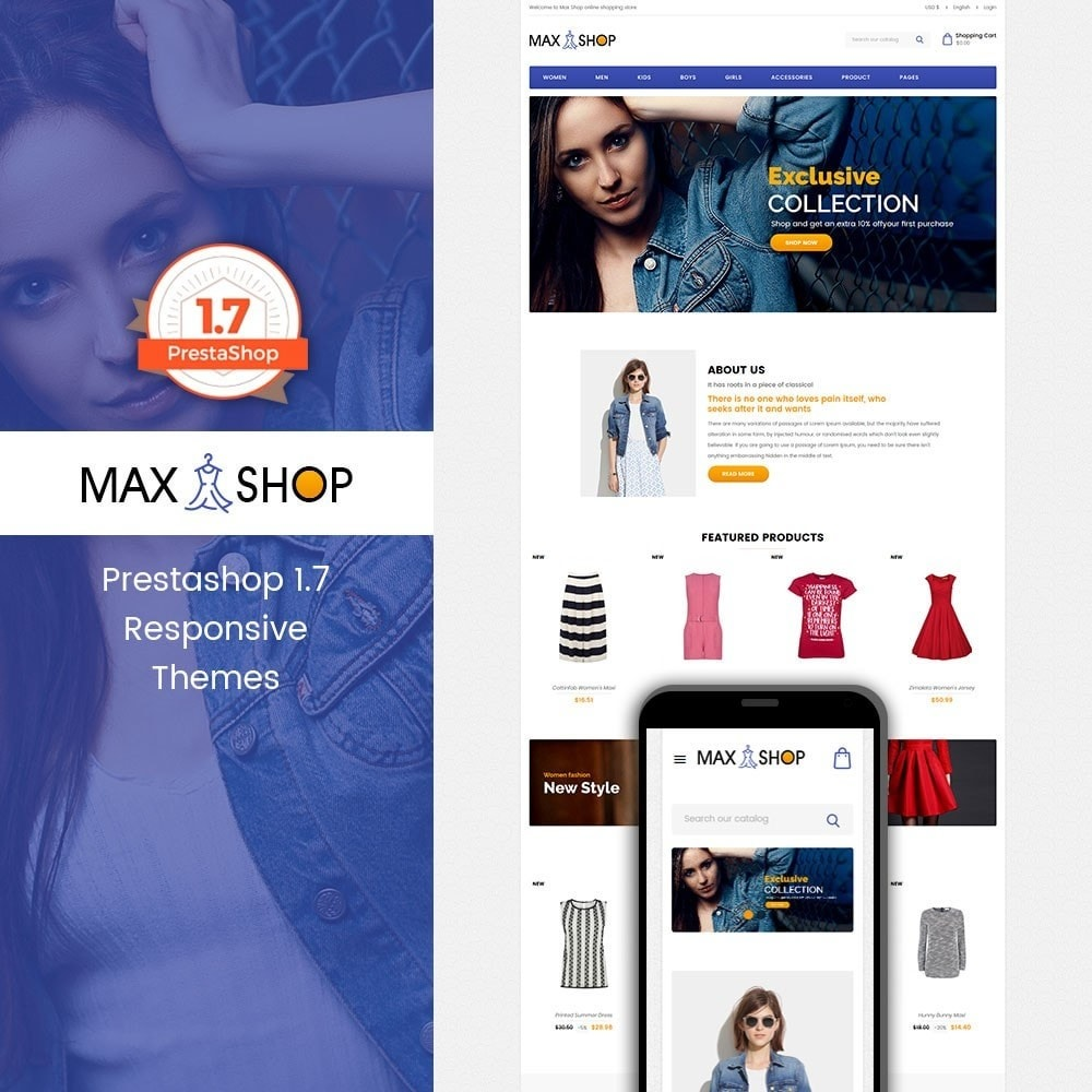 theme - Fashion & Shoes - Maxshop - Fashion Store - 1