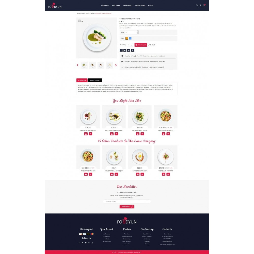 theme - Alimentos & Restaurantes - Foodyun - The Food Store - 5