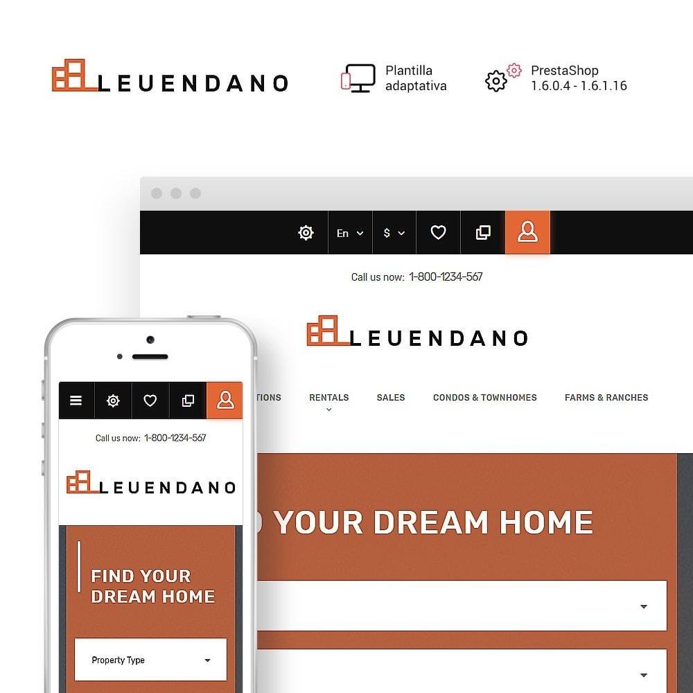 theme - Hogar y Jardín - Leuendano - para Sitio de Agencias inmobiliarias - 1