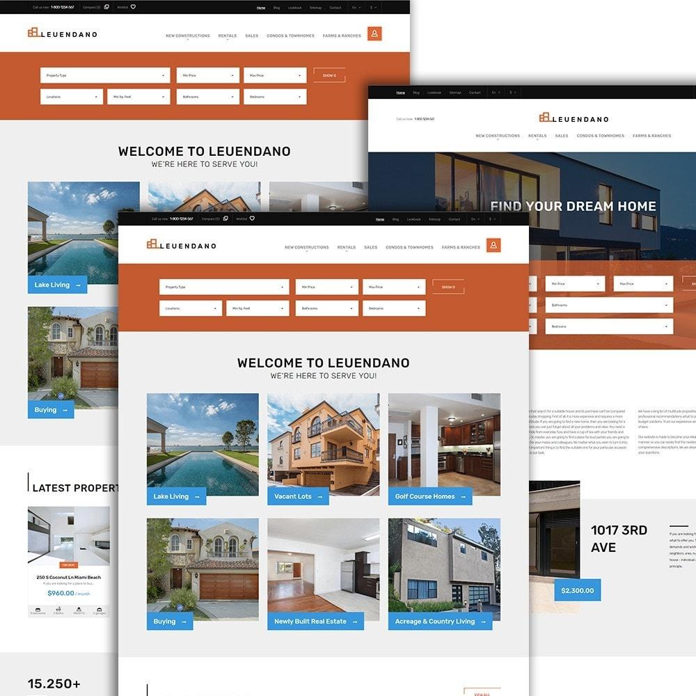 theme - Hogar y Jardín - Leuendano - para Sitio de Agencias inmobiliarias - 2
