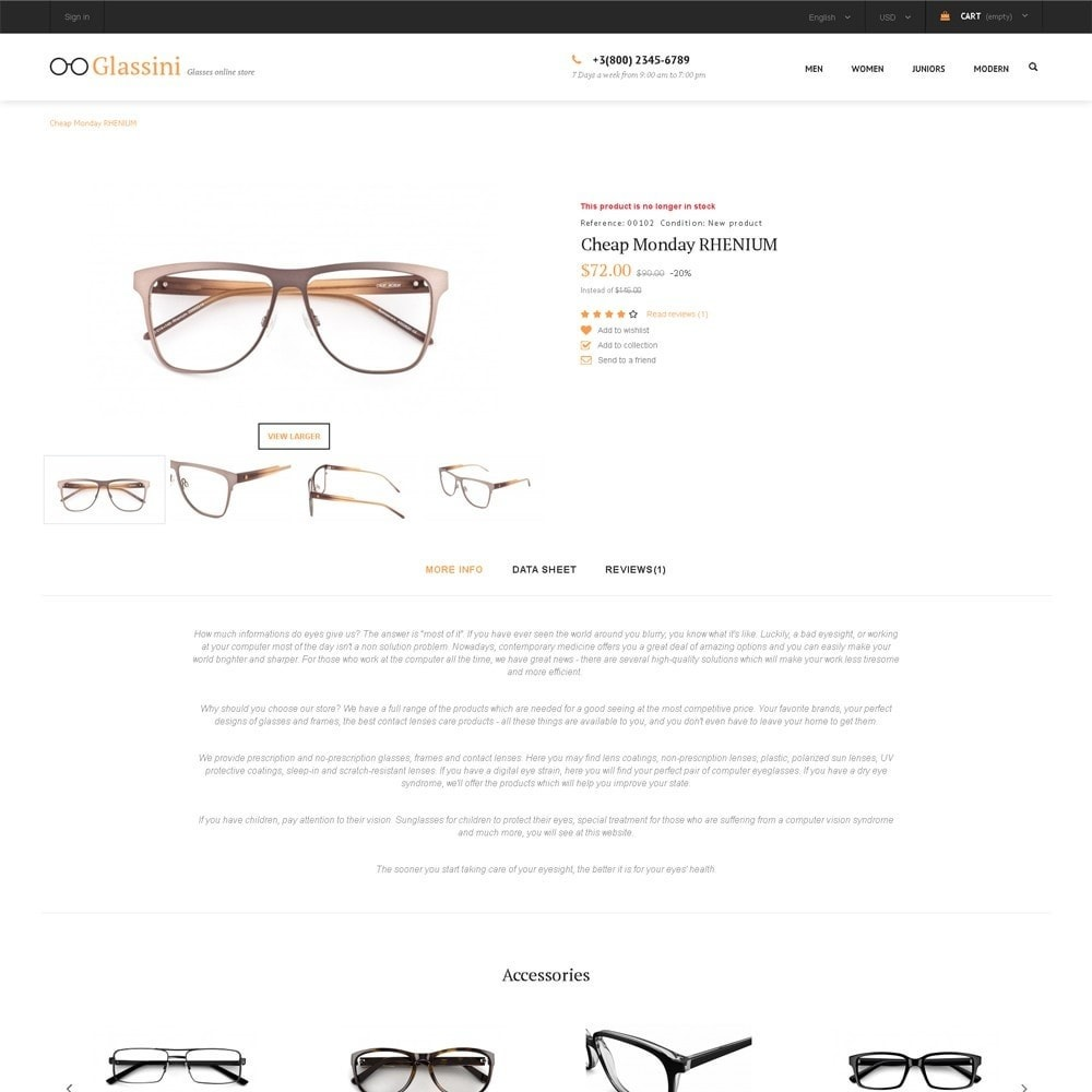 theme - Mode & Schuhe - Glassini - Glasses Store - 3
