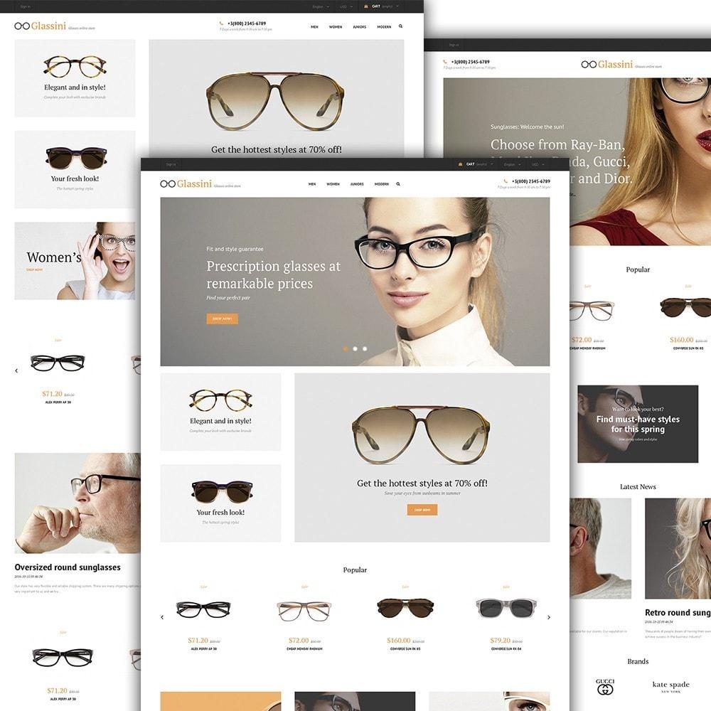 theme - Moda y Calzado - Glassini - para Sitio de Gafas - 3