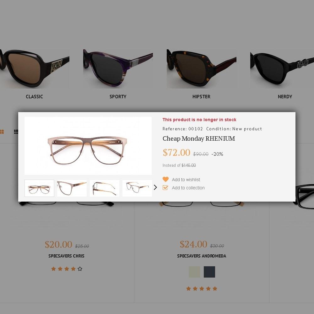 theme - Moda y Calzado - Glassini - para Sitio de Gafas - 5