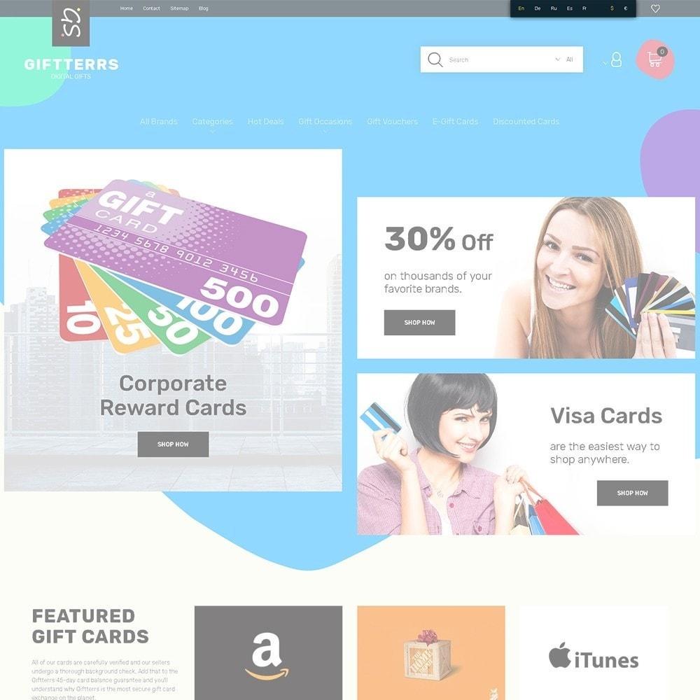 theme - Подарки, Цветы и праздничные товары - Giftterrs - шаблон на тему подарки - 4