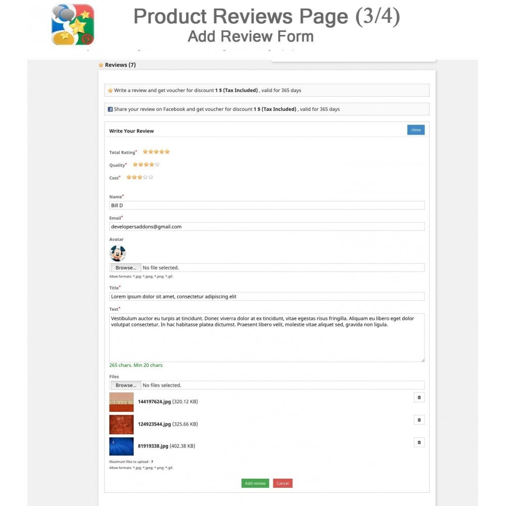 module - SEO - Product, Shop Reviews, Reminder, Profile, Rich Snippets - 3