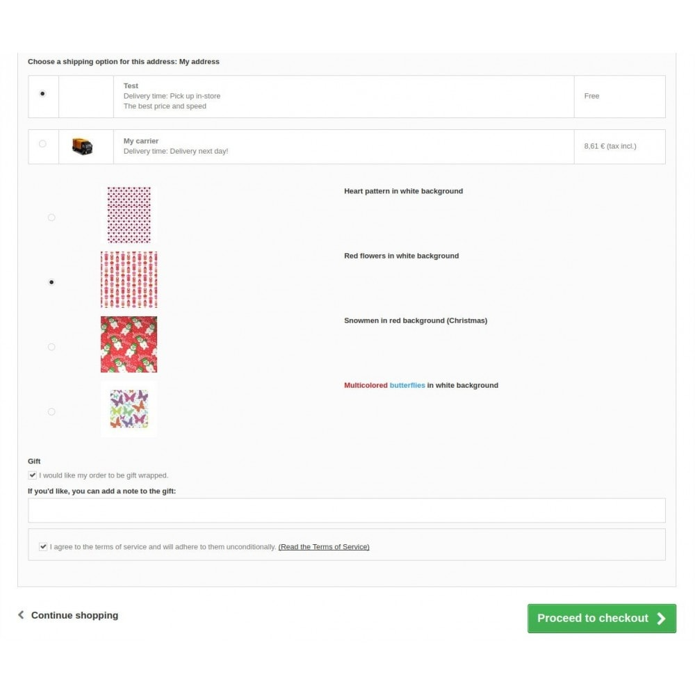 module - Inscription & Processus de commande - Gift Wrapping Select - 3