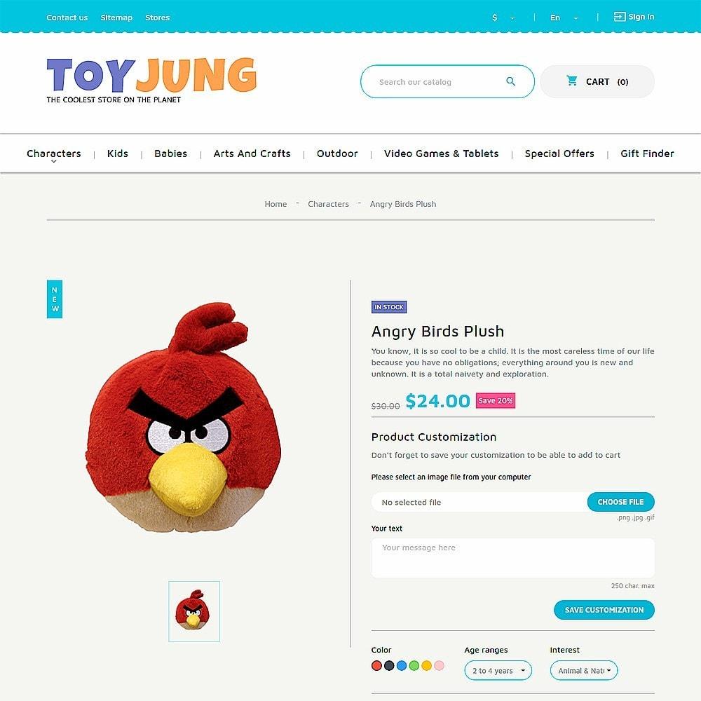 theme - Niños y Juguetes - ToyJung - para Sitio de Tienda de Juguetes - 3