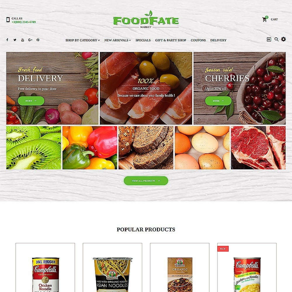 theme - Alimentation & Restauration - FoodFate - Supermarché - 2