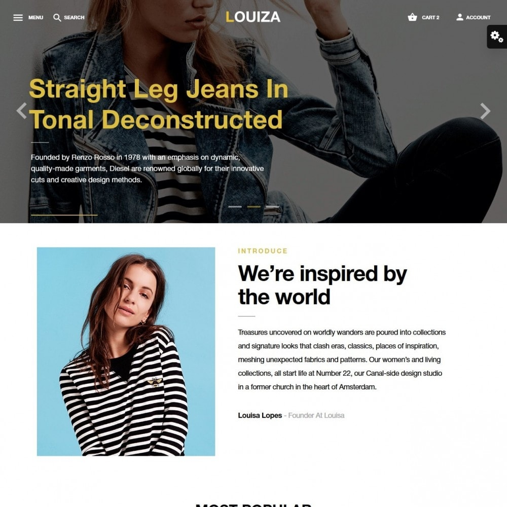 theme - Мода и обувь - Louiza Fashion Store - 2