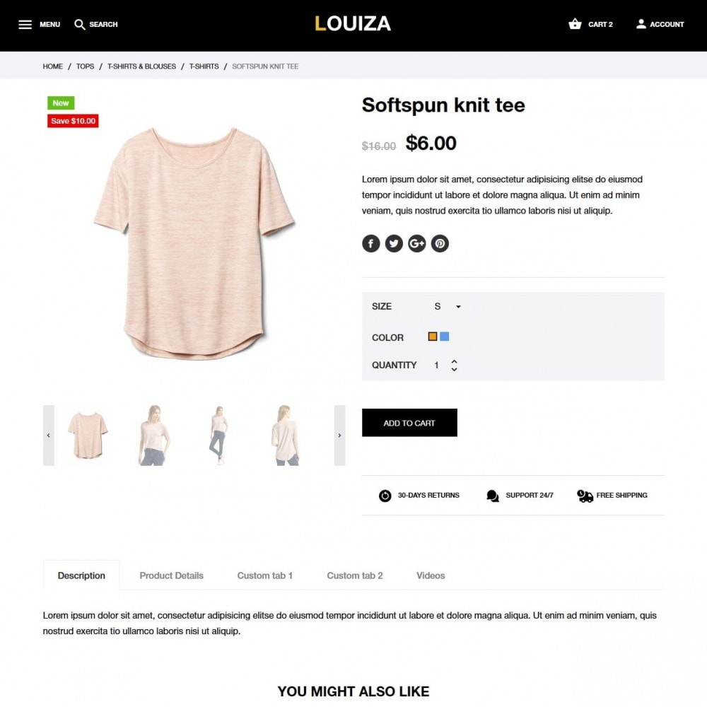 theme - Fashion & Shoes - Louiza Fashion Store - 6