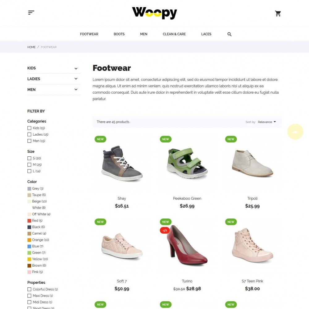 theme - Fashion & Shoes - Woopy Shop - 5