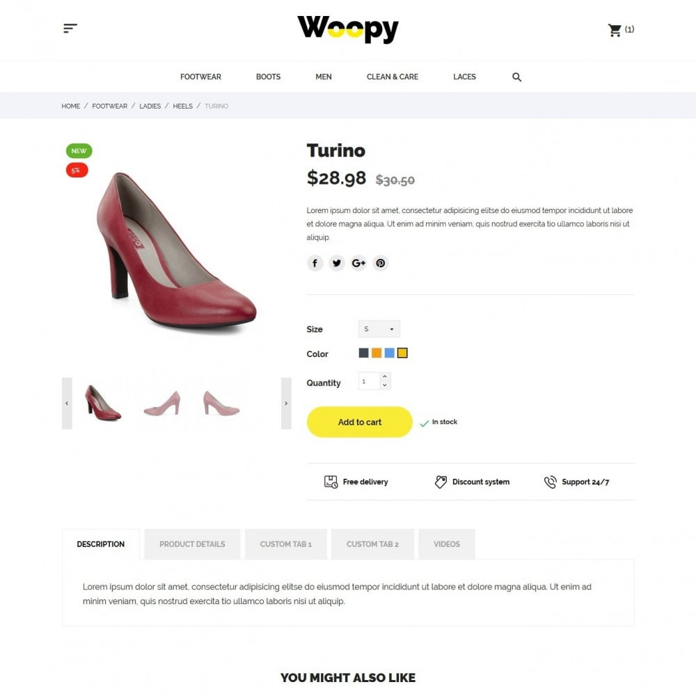 theme - Mode & Chaussures - Woopy Shop - 6