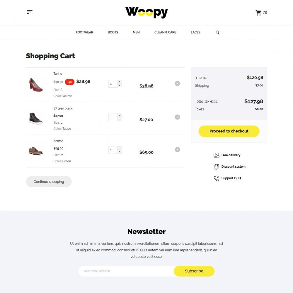 theme - Mode & Chaussures - Woopy Shop - 9