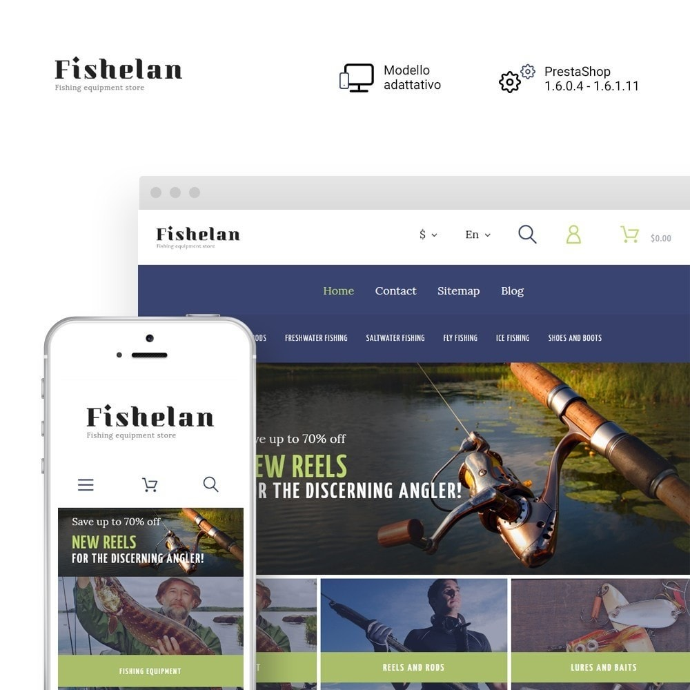 theme - Sport, Attività & Viaggi - Fishelan - Fishing Equipment - 1