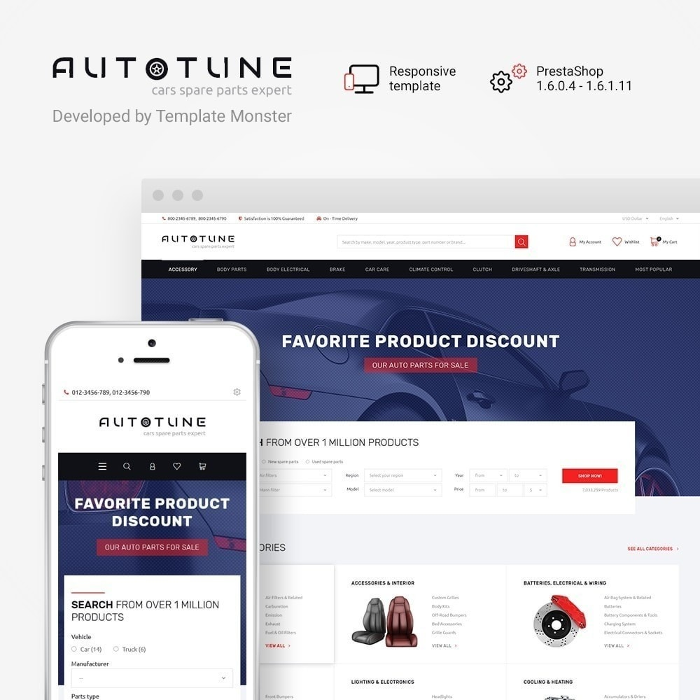 theme - Авто и Мото - Autotune - шаблон на тему автозапчасти - 2
