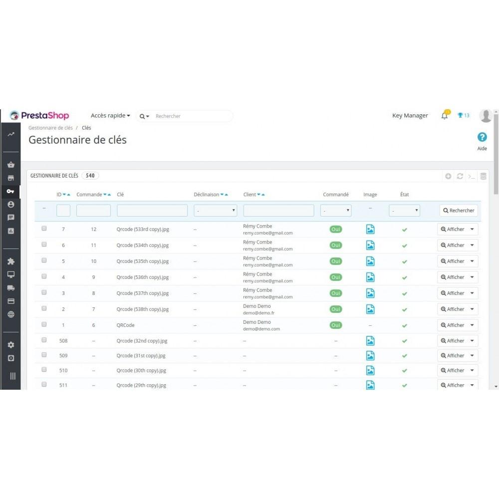 module - Sécurité & Accès - Key Manager (Gestion des produits à clés) - 4