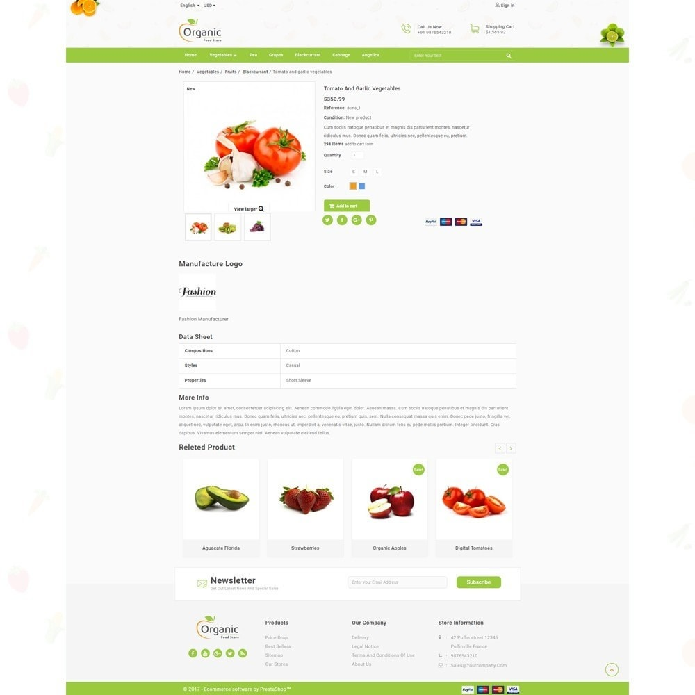 theme - Eten & Restaurant - Organic Food Store - 4