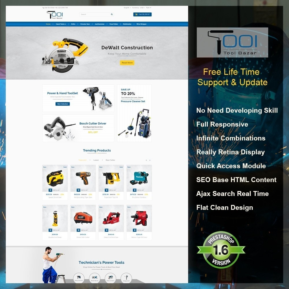theme - Automotive & Cars - Tools Shop - 1