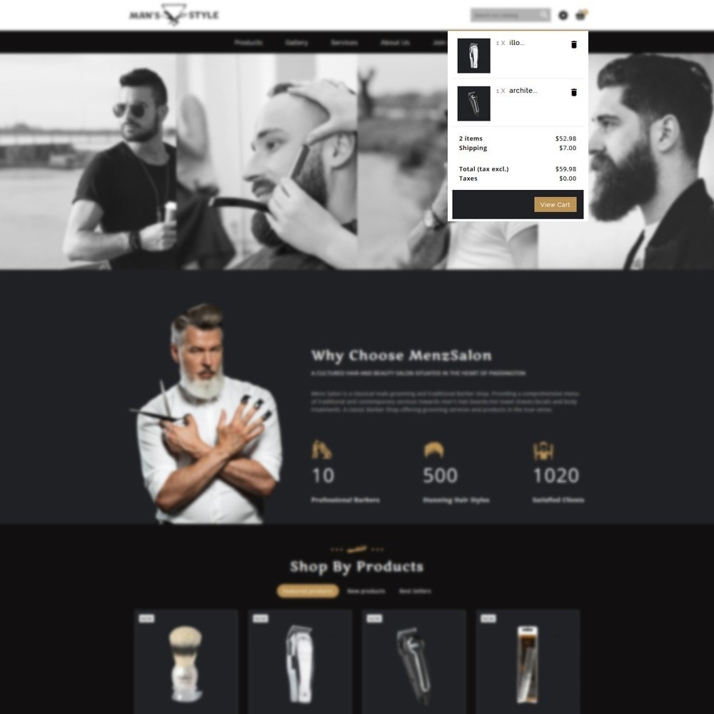 theme - Salute & Bellezza - Men's Style Barber Store - 6