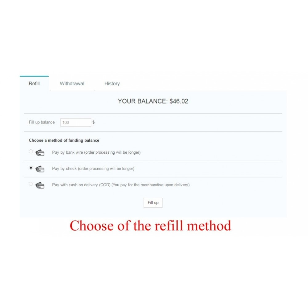 module - Payment by Card or Wallet - User internal balance UserBalance - 7