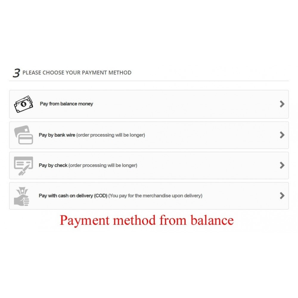module - Payment by Card or Wallet - User internal balance UserBalance - 12