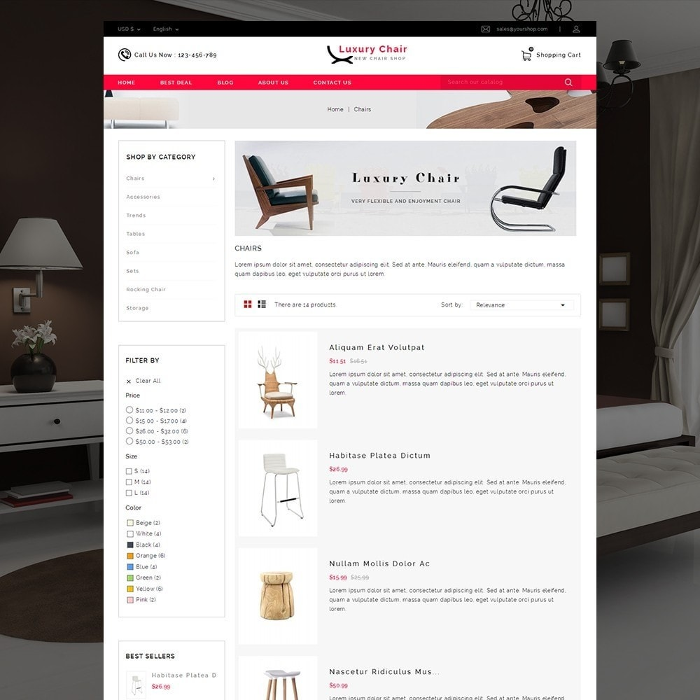 theme - Heim & Garten - Luxury Chair Online Store Template - 6