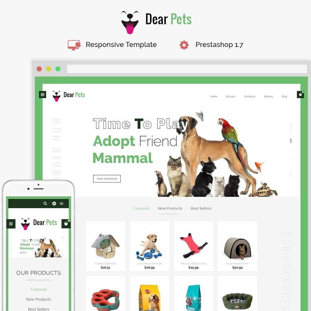 theme - Animals & Pets - Dearpets Pet Store - 1
