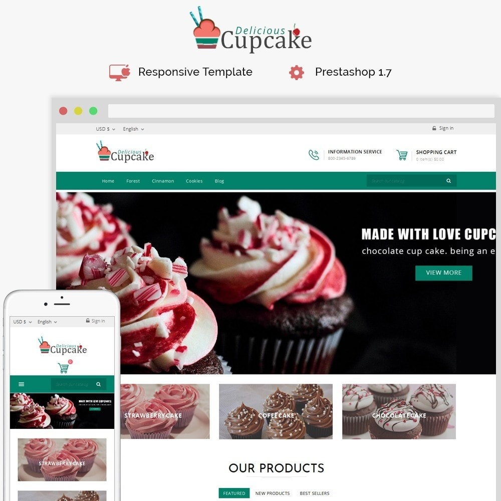 theme - Alimentation & Restauration - Cupcake Cake Shop - 1