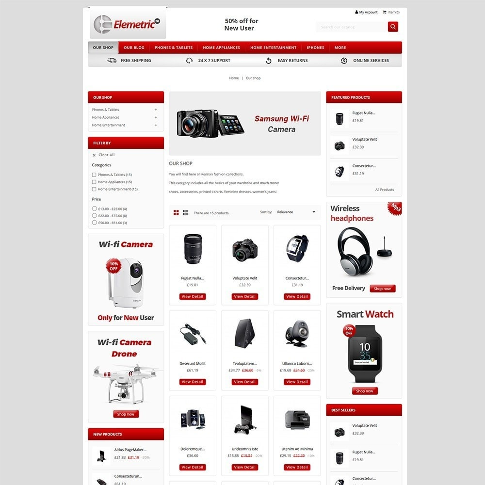theme - Electronique & High Tech - Elemetric Electronic store - 3