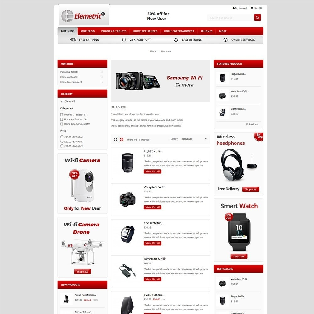 theme - Electronique & High Tech - Elemetric Electronic store - 4